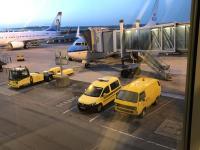VW T3 airside vehicle, Billund Airport, Denmark, August 2019