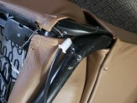 Leather seat seam