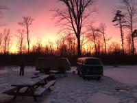 Winter Poconos camping