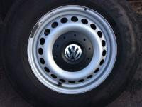 VW T5 steel wheels center caps