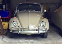1967 Beetle front bumper reinstalled