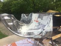 Finished body working front quarter panel on my 1964