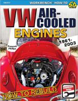 New Type 1 VW Engine Rebuild How-To book