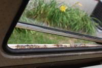 Rust under pop-out windows