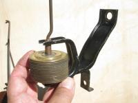odd bracket, thermostat on early engine
