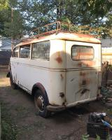Bus roof rack on a DKW
