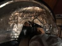 learning how to do tig welding - front quarter panel oval beetle
