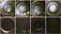 Piston tops type 4 engine with and without flash