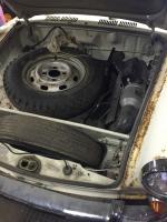 Frunk gas heater Notchback