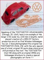 Large Tootsietoy Oval VW