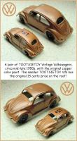 Large and Small Tootsietoy Oval VW