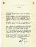 letter from Competition Motors to new owner of Beetle, 1958