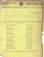 Service circular type 3 fuel injection 1972
