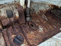Spit bus front floor rust