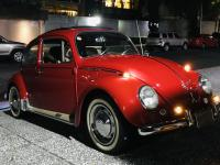 Red Ragtop VW Bug