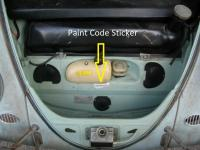 Bug Paint Code Sticker Location