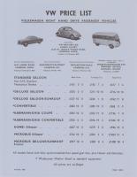 1960 uk price list