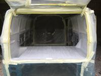 Painting the cargo area of a 1967 VW Splitbus