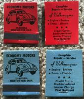 Economy Motors Mountain View, CA matchbook