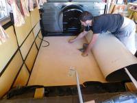 New flooring install on my '67 Westfalia Campmobile