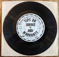 VW warranty and service message 45 RPM record