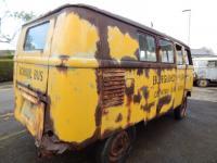 Burgundy Farm School Bus