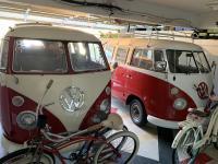Red bus garage