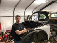 Super Beetle trunk repair