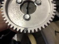 Spun bearing due to wrong oil pump cam combo