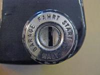 Steering wheel ignition lock