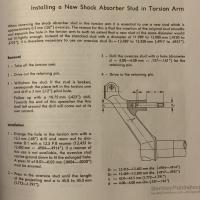 Replacing broken shock stud in lower torsion arm