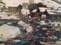 Hemmings Asetts 356 23 window pile up snow traffic jam Austria