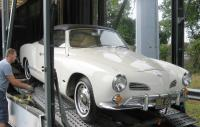 1966 Karmann Ghia Convertible with Coker Whitewall Tires