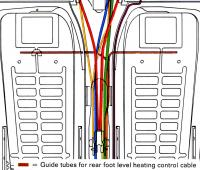 Guide tubes for rear heating control cable excert from 66-68 Service Manual Chassis Diagram