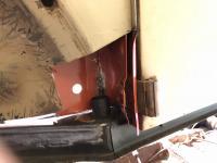 Door pillar hinge area