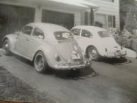 my 1962, foreground - Dad's 1965 bug, on right...