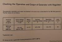 generator regulator output
