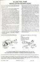 Electric Fuel Pump Instructions