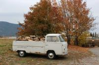 68 single cab helping out with firewood. Gotta keep the shop warm.
