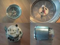 Clock with gas heater timer