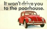 Beetle postcard from Woolverton VW, Ontario, CA
