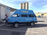 blue van with hightop
