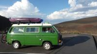 1984 VW Westfalia Escorial Green at Craters of the Moon