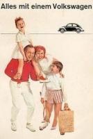 Old VW Bug postcard