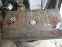 gas tank with sending unit and  fuel gauge