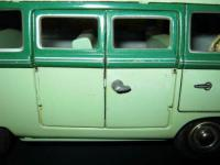 "1950's Western Germany TIPPCO TIPP & CO 9"" VW Barndoor Kombi Tin Friction Bus Toy"