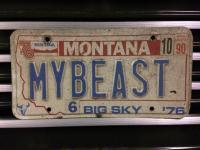 Custom Montana plate for '64 baja