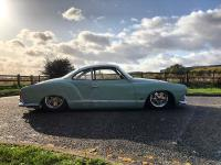 1964 Polar Blue / Blue White Karmann Ghia Slammed Lowered