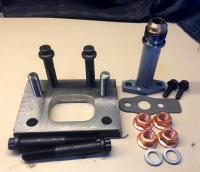 T2 turbo adaptor for VW trapazoid manifold
