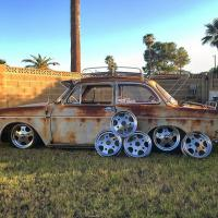 1964 french notchback and Randar circus wheels